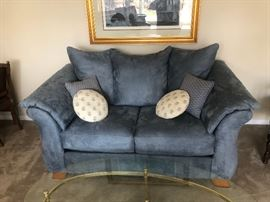 Big Blue Comfy Love seat!