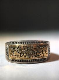 Sterling & 14K Gold Ring