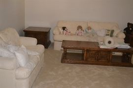 Sofa and Loveseat, coffee and end tables