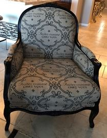 Milano's Designer Boutique Custom Made Chair