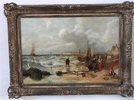 Nice Clarkson Stanfield 1793-1867 oil on canvas