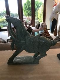 Large carved soapstone Tang horse