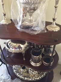 Early Sterling Silver and Silver plate on a 3 Tiered Stand