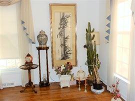 Vignette  of Fine Asian Art and Vases/Urns