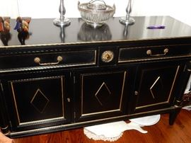 Contemporary Black Painted Chest.  American of Martinsville 54 x 18 x 30
