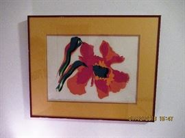 Framed Art  A/P By Peggy Leighninger circa 1980