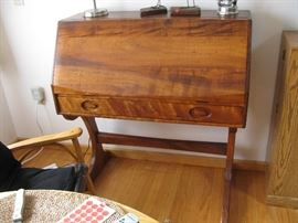 american made and artist signed desk , see fitted interior pictures, just fabulous