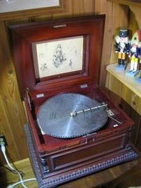 "great working condition and great sound Regina music box , 15.5"" discs too"