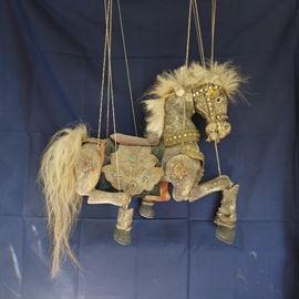 Large Burmese Folk Art Marionette Puppet
