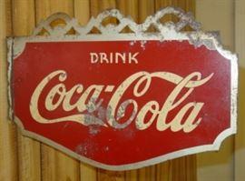 1937 Metal Drink Coca-Cola Flange Sign