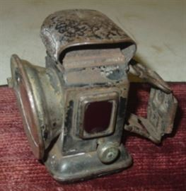 Late 1800's - Early 1900's Lucent Bicycle Lamp