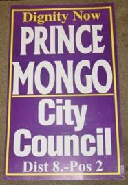 Prince Mongo Cardboard Sign