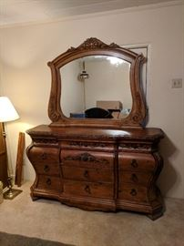 Beautiful Large Dresser with Mirror. The drawers are cedar wood.