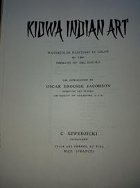 30 Lithographs published in 1929 of the Original Watercolors of the Kiowa