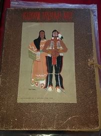 Kiowa Indian Art Original 1929 Book - All complete and in good condition.  This is a special piece.  30 Lithographs of the Watercolor Paintings by the Indians of Oklahoma.  Native American Indians./American Indians.