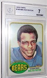 WALTER PAYTON TOPPS ROOKIE CARD BECKETT GRADE 7 CHICAGO BEARS NFL HOF