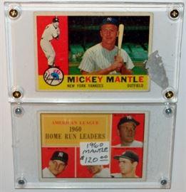 MICKEY MANTLE BASEBALL CARDS NEW YORK YANKEES
