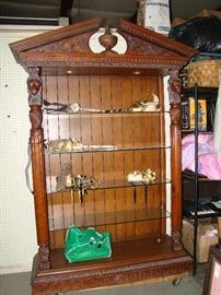 NICE OPEN FRONT CURIO CABINET