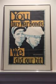 "World War I poster:  ""You buy war bonds, we did our bit"""