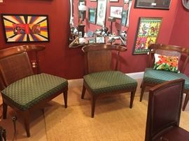 Set of three low lounge chairs $125.00 each