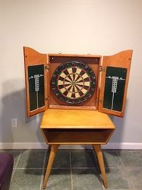 Pair end tables & darts