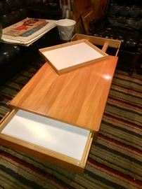 Amazing Herman Miller - George Nelson expandable coffee table with matching end tables
