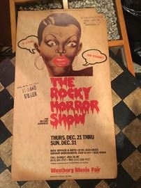 Vintage Rocky Horror Show poster