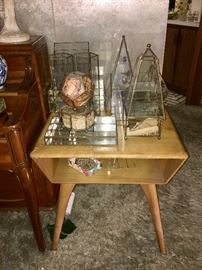 Collection of brass & glass display cases