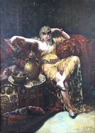Wonderful Orientalist Harem Girl oil painting