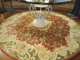 Beautiful round wool area rug