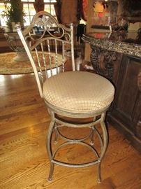 Set of swivel bar stools
