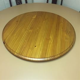Very large wooden lazy Susan 3 foot in diameter