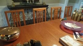 Art Nouveau style dinning room Table with 8 Chairs, $850