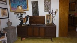 mid century stereo console. Art and Home decor