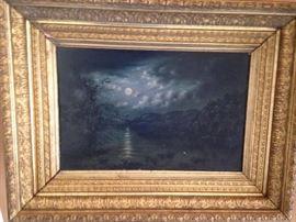 "Victorian ""night"" original oil"