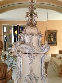RARE ! 19th century antique French enamel  heating stove $6500 or best offer. You won't find another soon!