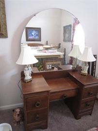 1940's vanity with matching chest of drawers and full bed