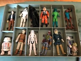 Items are shown for display but will not be sold as displayed in this photo. There is one complete case - a Darth Vader Case that is full and the remaining figurines will be sold individually. Thank you.