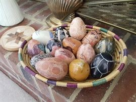 Carved Stone Eggs