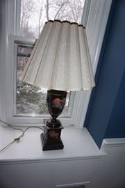 PAIR OF PAINTED TOLE TABLE LAMPS
