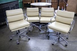 Herman Miller Eames Aluminum Group Management Padded Chairs