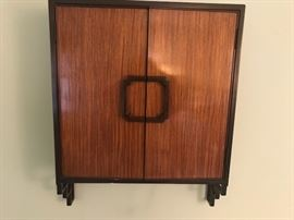 Wonderful hanging oriental/deco cabinet