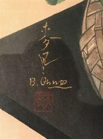 Closeup of signature
