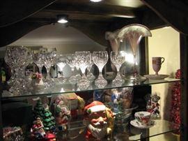 Baccarat crystal barware, Vandermark fan vase
