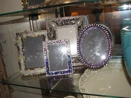 bejeweled picture frames
