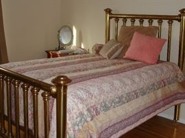 Vintage queen brass bed