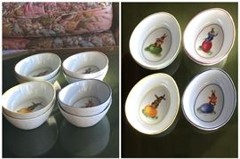Peter Rabbit Bowls (8), never used.