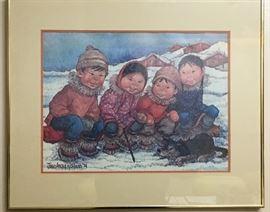 Joan Arend Kickbush eskimo print
