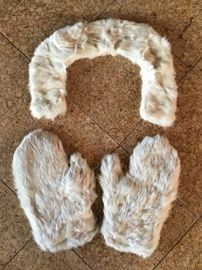 Ermine mittens and collar