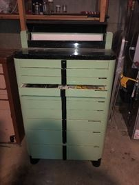 Vintage Art Deco Dental Cabinet/ Pull Up Top